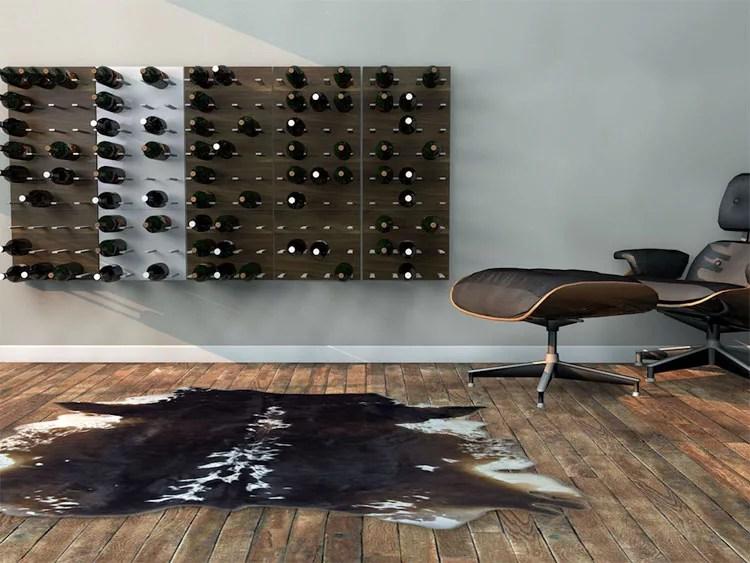 Patrón de soportes para botellas de vino 14 de pared