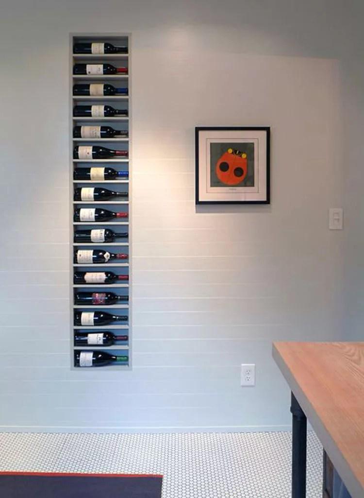 Patrón de soportes para botellas de vino 17 de pared