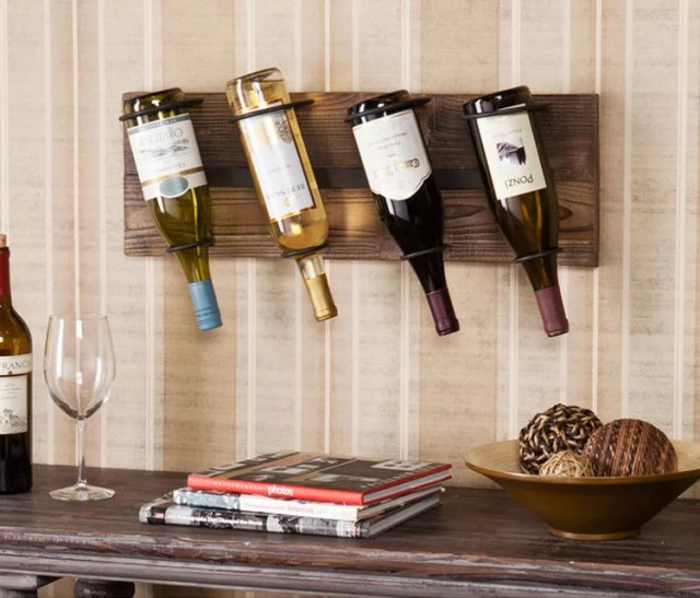 Patrón de soportes para botellas de vino 24 de pared