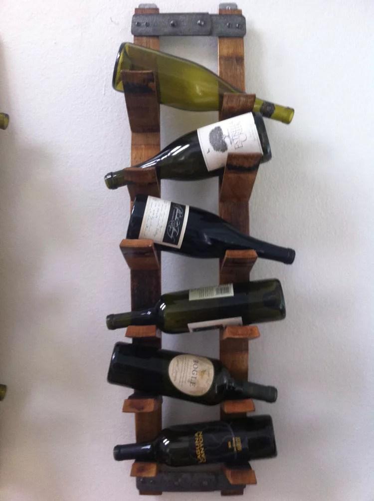Patrón de soportes para botellas de vino 26 de pared