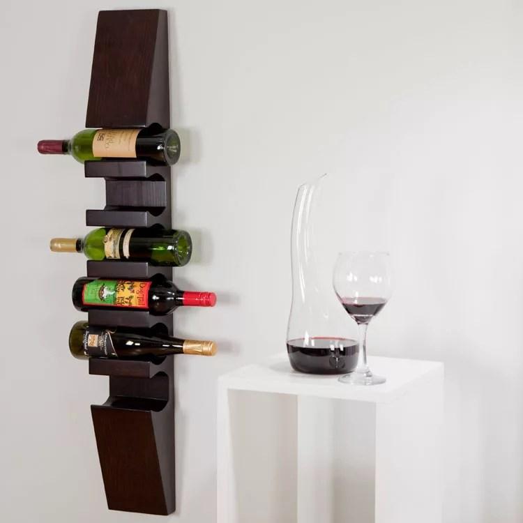 Patrón de soportes para botellas de vino 31 de pared