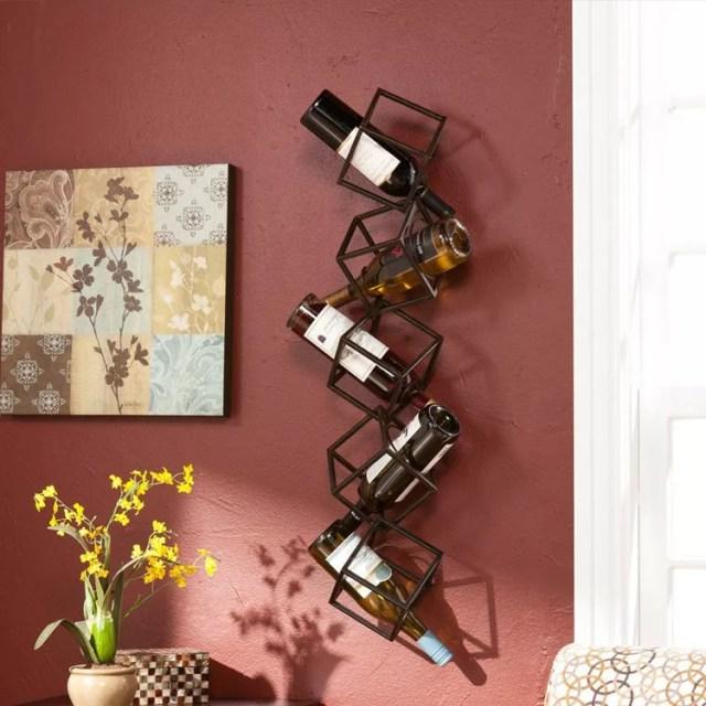 Patrón de soportes para botellas de vino 32 de pared