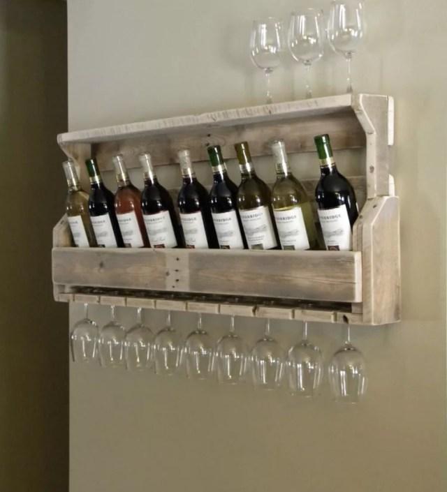 Patrón de soportes para botellas de vino 35 de pared