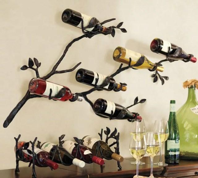 Patrón de soportes para botellas de vino 40 de pared