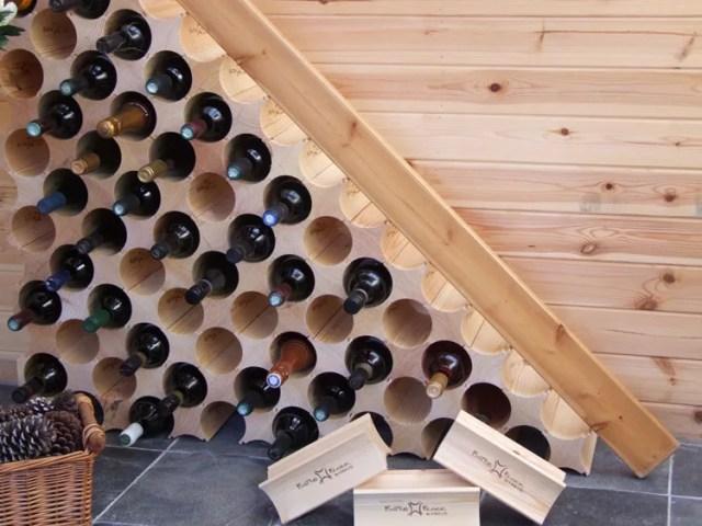 Patrón de soportes para botellas de vino 41 de pared