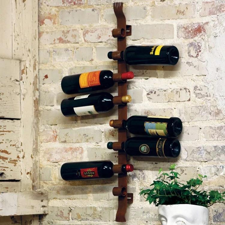 Patrón de soportes para botellas de vino 44 de pared