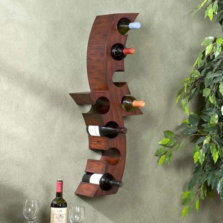 Patrón de soportes para botellas de vino 47 de pared