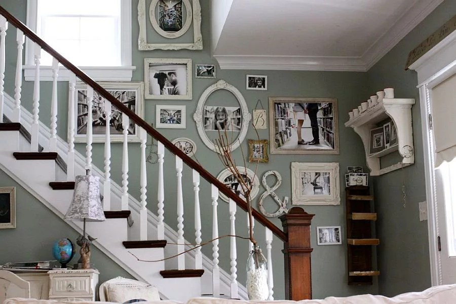 La parete di una scala può diventare elemento di design se verniciata: Scala Shabby Chic 10 Bellissime Idee Decorative Mondodesign It