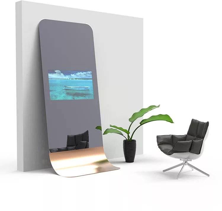 Retroilluminati per il bagno, con cornice per la camera da letto e particolari per l'ingresso. Specchi Da Terra Dal Design Moderno E Particolare Mondodesign It