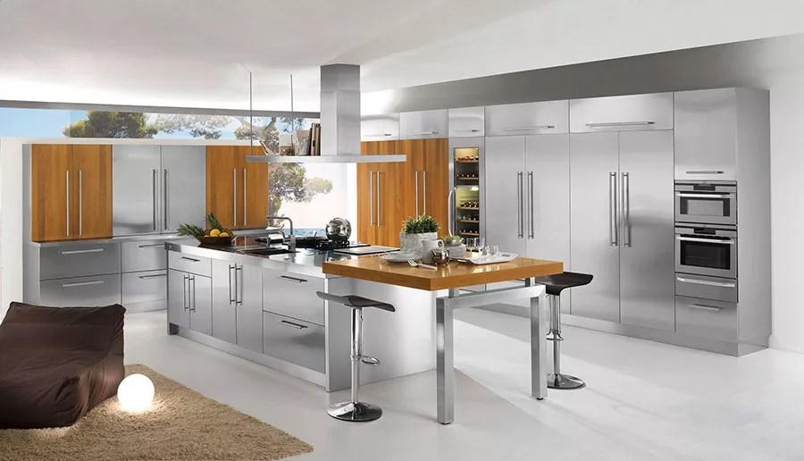 20 Cucine in Acciaio dal Design Moderno con un Tocco