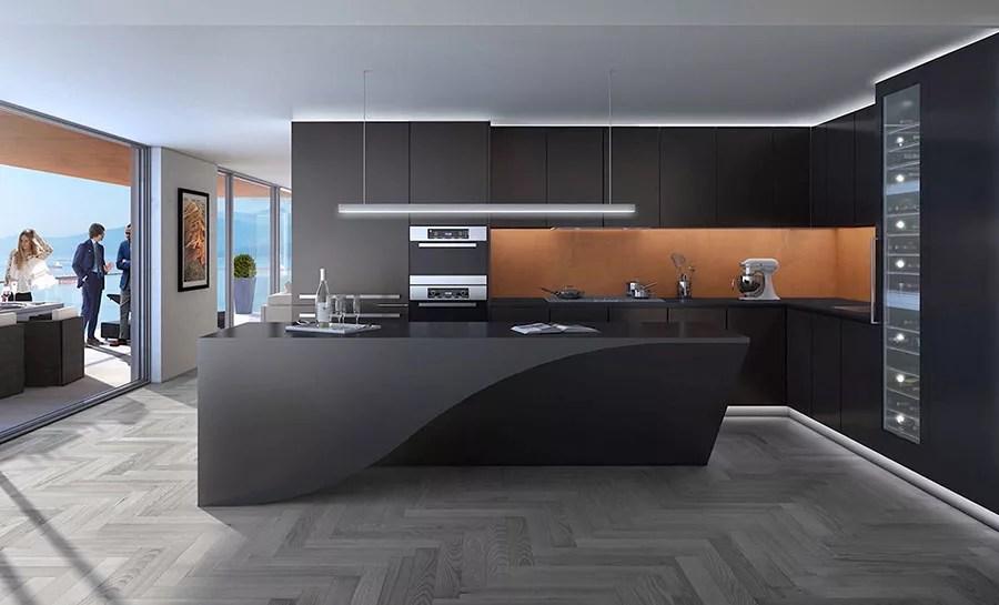 Cucine Nere di Design 30 Modelli che vi Conquisteranno