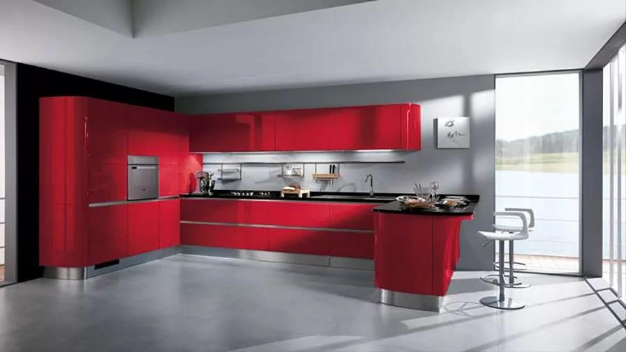 30 Modelli di Cucine Rosse dal Design Moderno  MondoDesignit