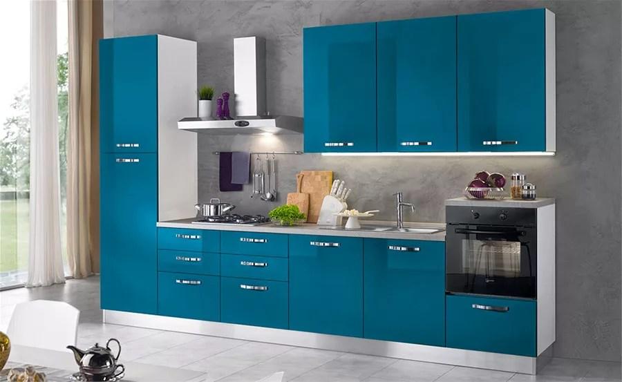 Cucina Verde Petrolio 20 Modelli di Design a cui