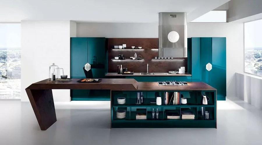 Cucina Verde Petrolio 20 Modelli di Design a cui Ispirarsi  MondoDesignit