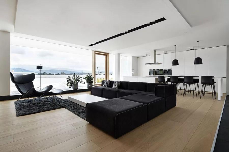 Visualizza altre idee su case di lusso, case, arredamento. Interni Di Lusso 5 Progetti Di Arredo Moderno In Bianco E Nero Mondodesign It
