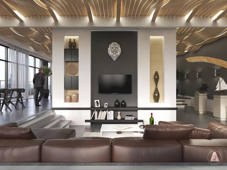 Progettiamo interni di lusso e case in stile americano che resistono alla prova del tempo. Interni Di Lusso 5 Progetti Di Arredo Moderno In Bianco E Nero Mondodesign It
