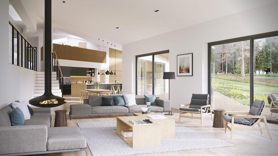 I suggerimenti per separare la cucina dal soggiorno senza rinunciare a un living spazioso e funzionale. Come Arredare Un Open Space Di 40 50 Mq Mondodesign It