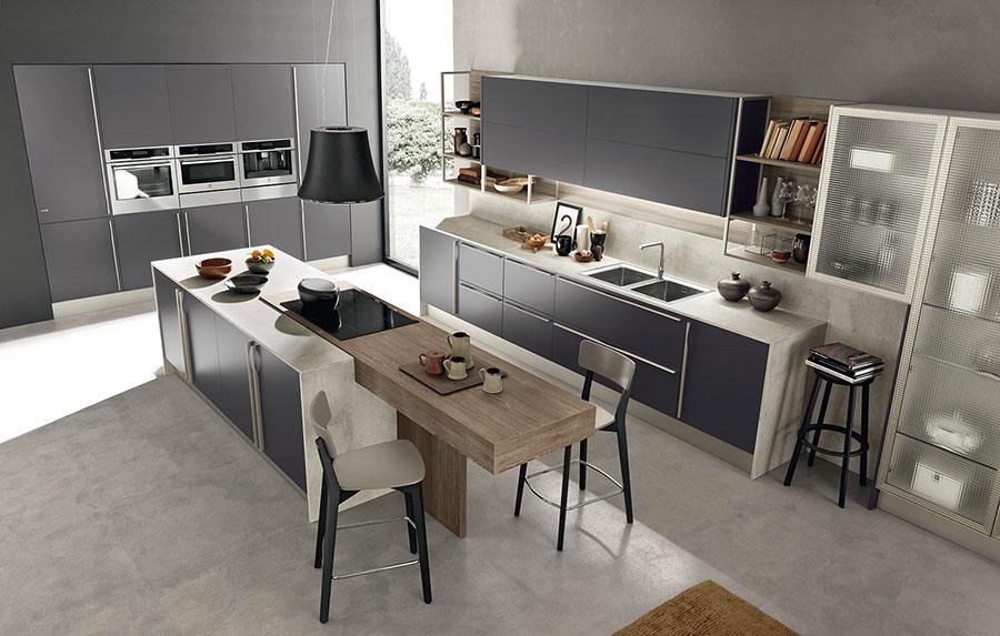 Febal Cucine Moderne Cucine Moderne Con Isola Febal Pedine Tegola Backsplash Installato In