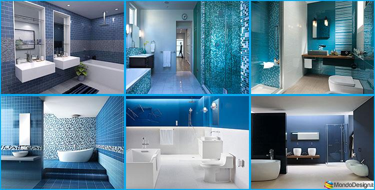 Bagno Blu e Bianco dal Design Moderno ecco 20 Idee