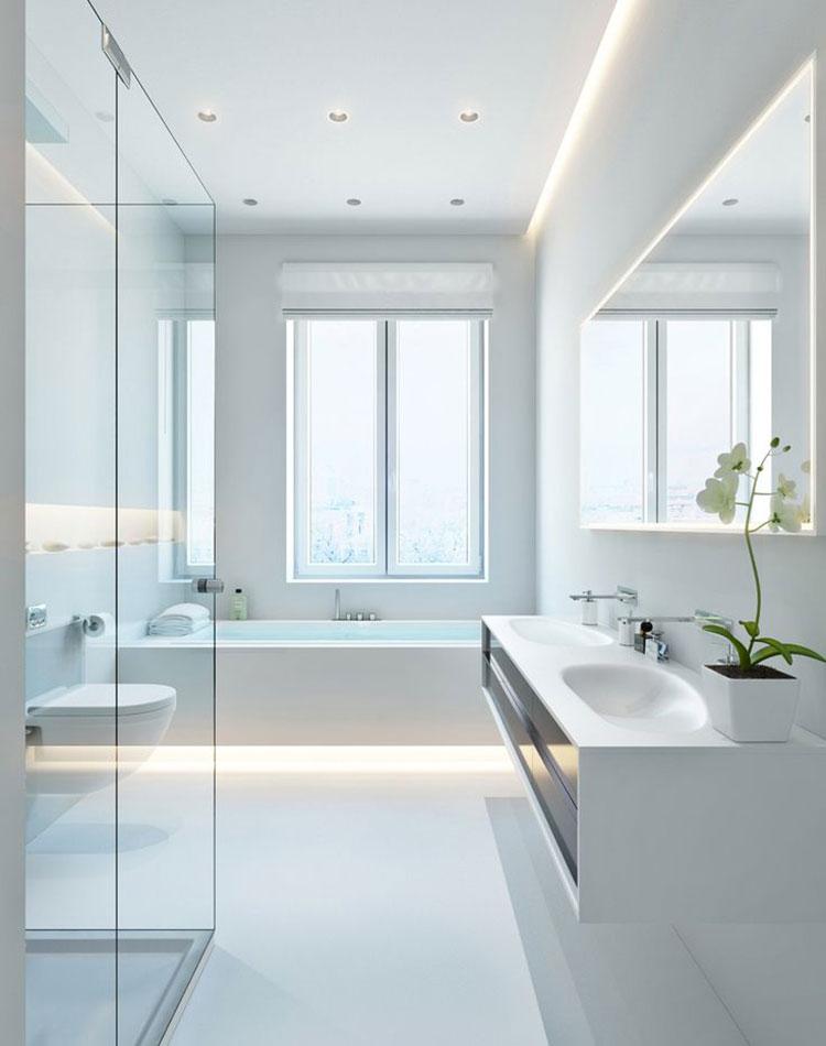 Bagno Bianco 20 Idee di Arredamento Moderno ed Elegante  MondoDesignit