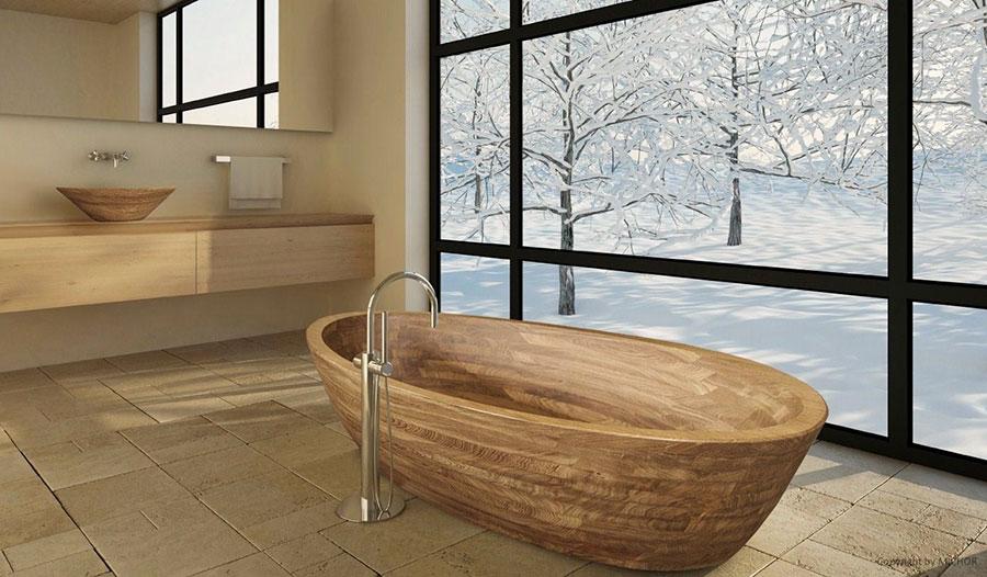 Vasca Da Bagno Legno : Ispirato bagno legno giro u design per la casa
