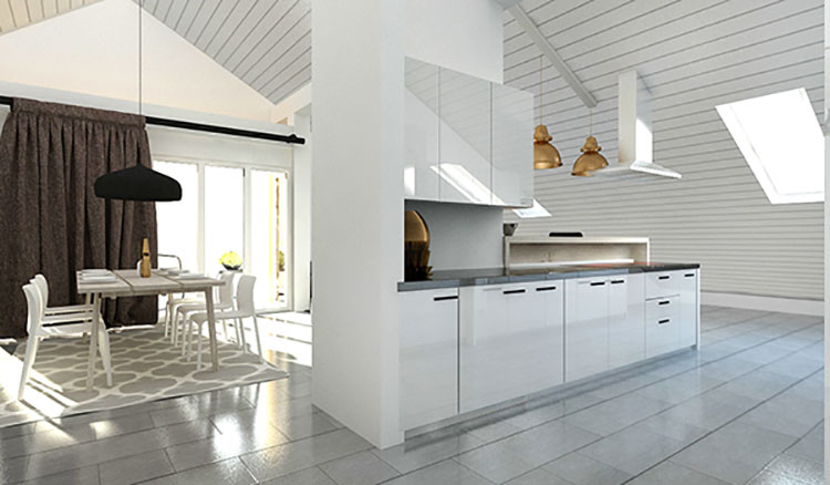 20 idee per un ambiente moderno e … 100 idee cucine moderne da sogno • con. Come Arredare Una Mansarda Open Space 11 Progetti Di Design Mondodesign It
