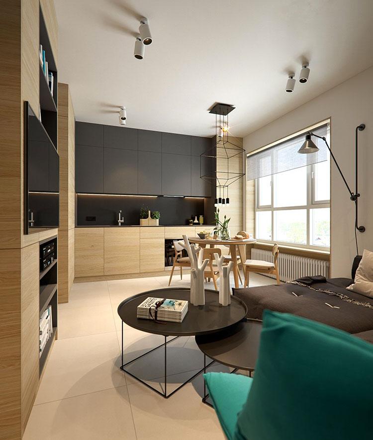 20.24 0 506 30 930 soggiorno/cucina mq. Come Arredare Un Open Space Di 20 30 Mq Mondodesign It