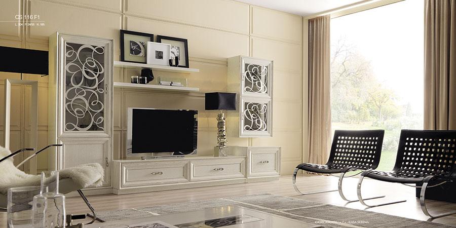 Mibile tv parete attrezzata soggiorno. Parete Attrezzate Shabby Chic Ecco 20 Modelli Originali Ed Eleganti Mondodesign It