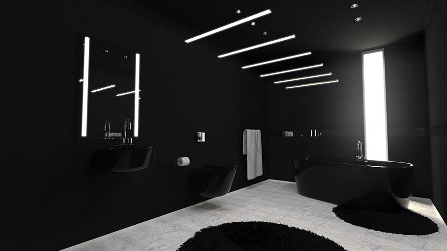 Bagni Neri Moderni 25 Foto di Progetti di Design  MondoDesignit