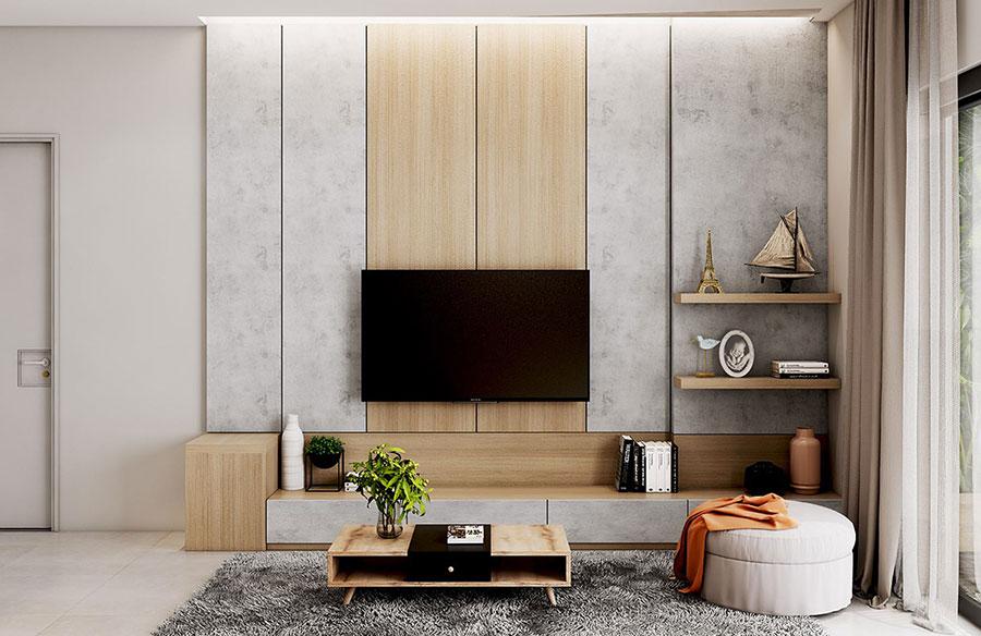 Parete TV 35 Idee di Arredamento dal Design Originale  MondoDesignit