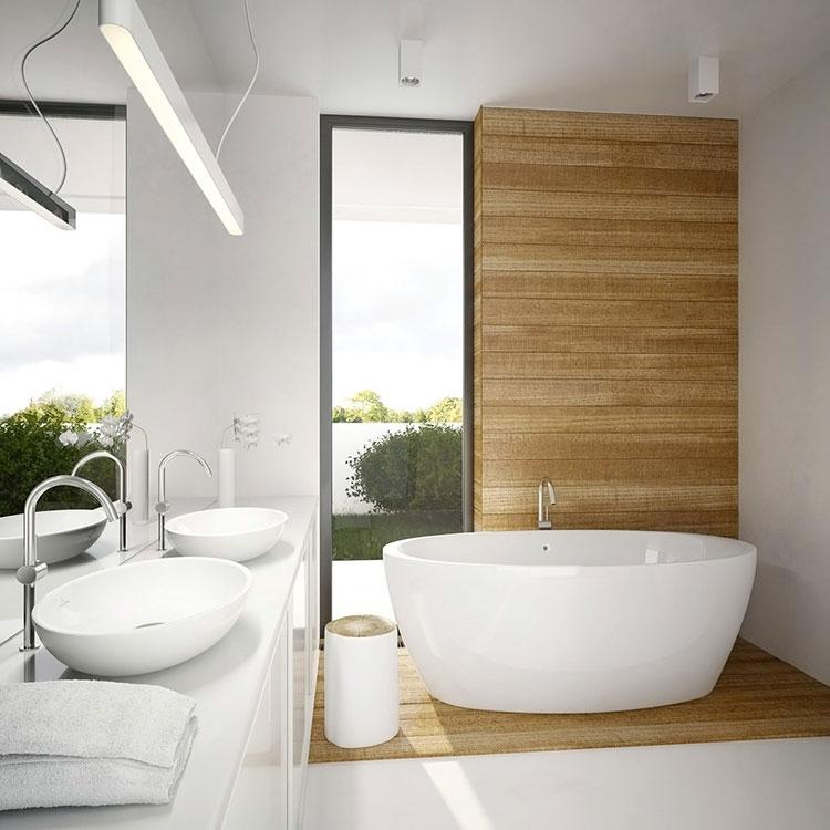 Bagno Bianco e Legno 20 Idee di Arredo dal Design Moderno  MondoDesignit