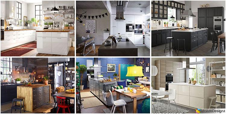 Cucine piccole, ikea, linea enhet. Cucina Con Isola Ikea Ecco 12 Progetti A Cui Ispirarsi Mondodesign It
