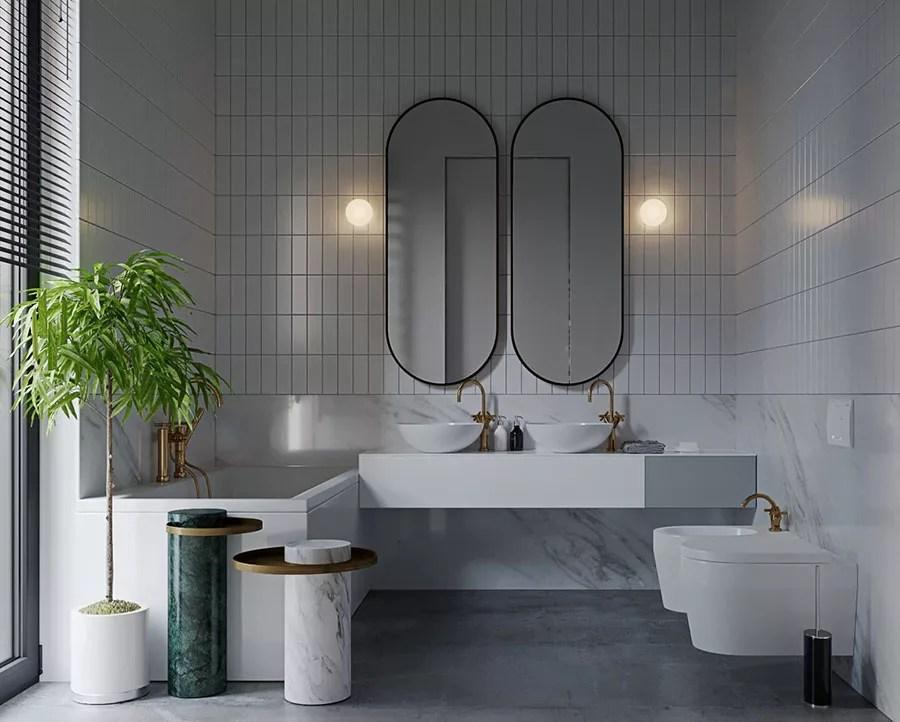 Bagno Grigio E Bianco: Ecco 40 Idee Di Arredamento