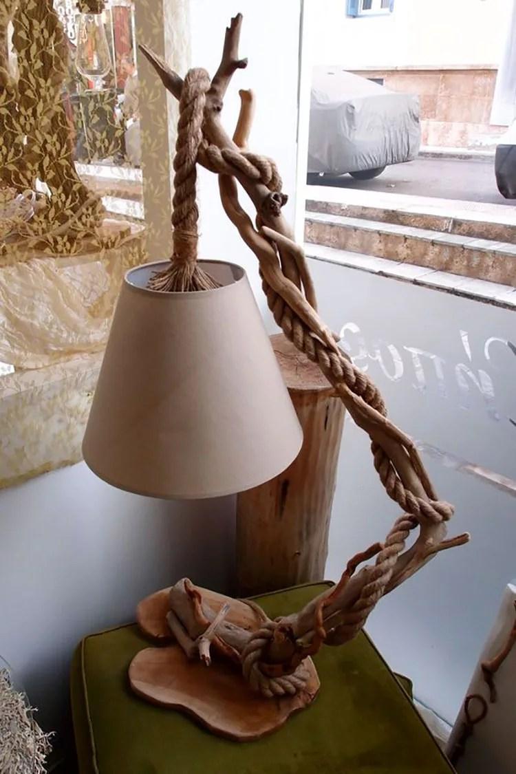 Legno Idee Fai Da Te tavolo mattonelle fai da te - 30 idee per lampade in legno