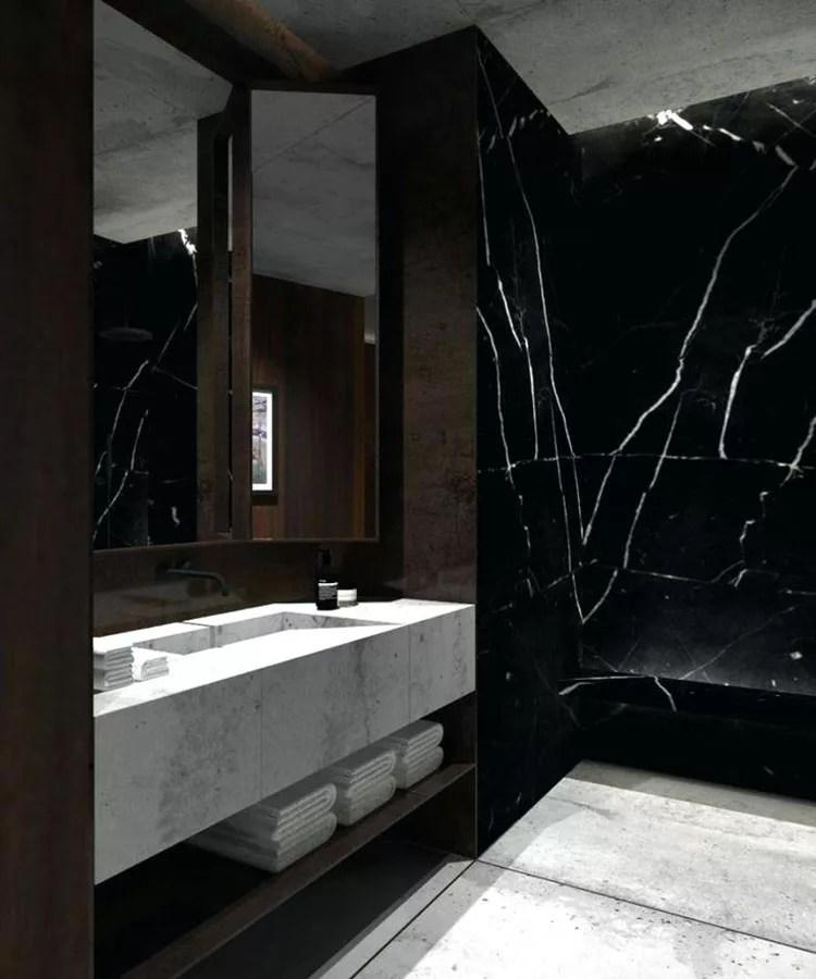 Bagni in Marmo Nero ecco 30 Progetti a Cui Ispirarsi