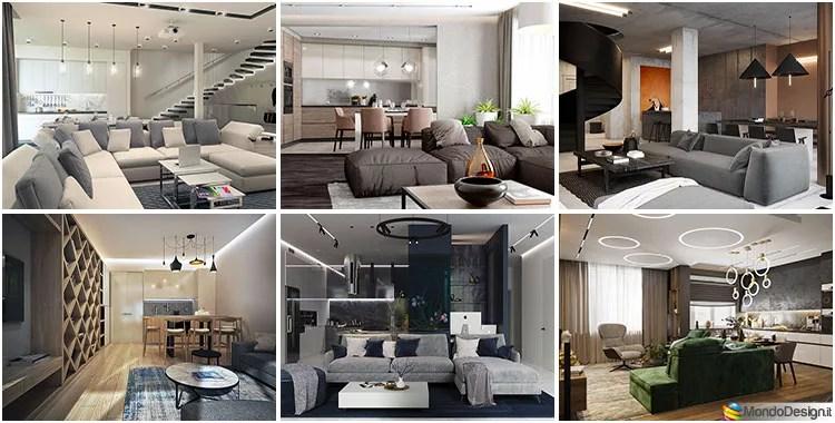 idee per ristrutturare il soggiorno? 40 Idee Per Soggiorno Con Cucina A Vista Mondodesign It