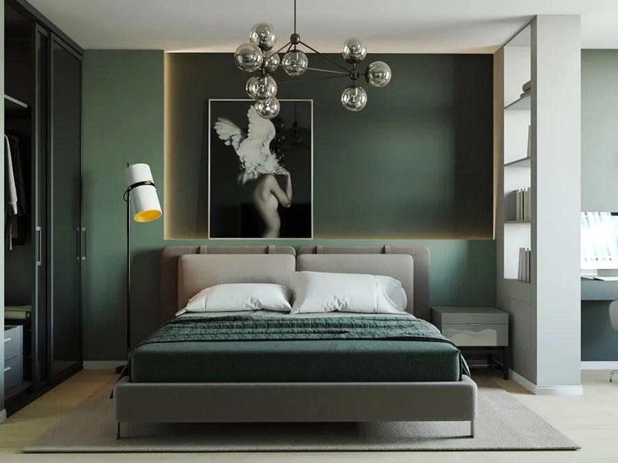 Quando pensi alla camera da letto in arte povera della nonna,. 27 Idee Di Colore Per Pareti Per Camera Da Letto Con Mobili Scuri Mondodesign It