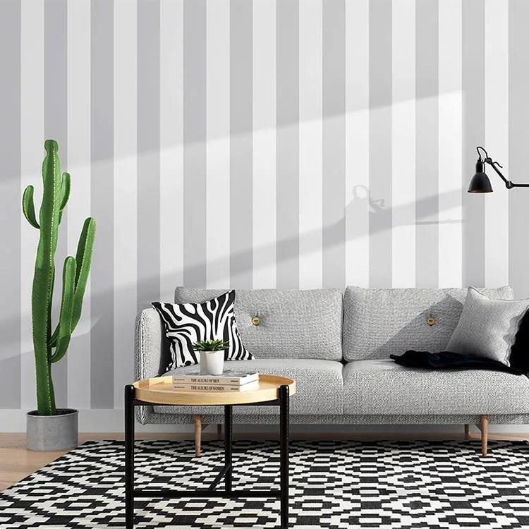 Righe grigie e bianche sulla parete e sul soffitto per ingrandire stanze. Pareti A Righe Verticali 25 Idee Da Copiare Per Decorare Gli Interni Mondodesign It
