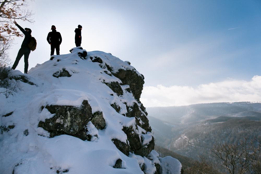 prédikálószék téli túra mondolo magyarország visegrádi-hegység vadállókövek rám-szakadék