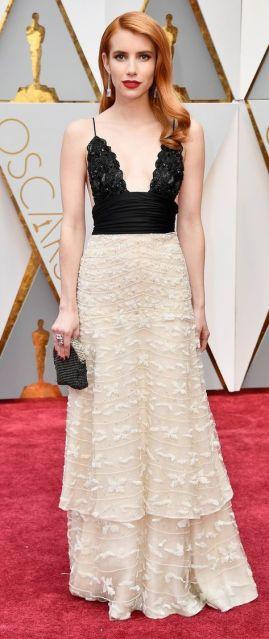 Oscar 2017 Emma Roberts veste Armani Privé @ Getty