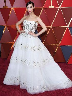Oscar 2017 Sophia Carson veste Monique Lhuillier @ Frazer Harrison/Getty Images)