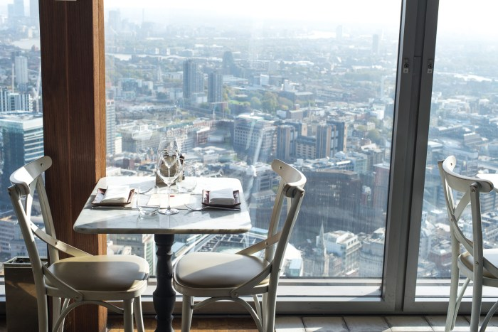 Lunch by Head Chef Dan Doherty at Duck and Waffle with stunning views of London