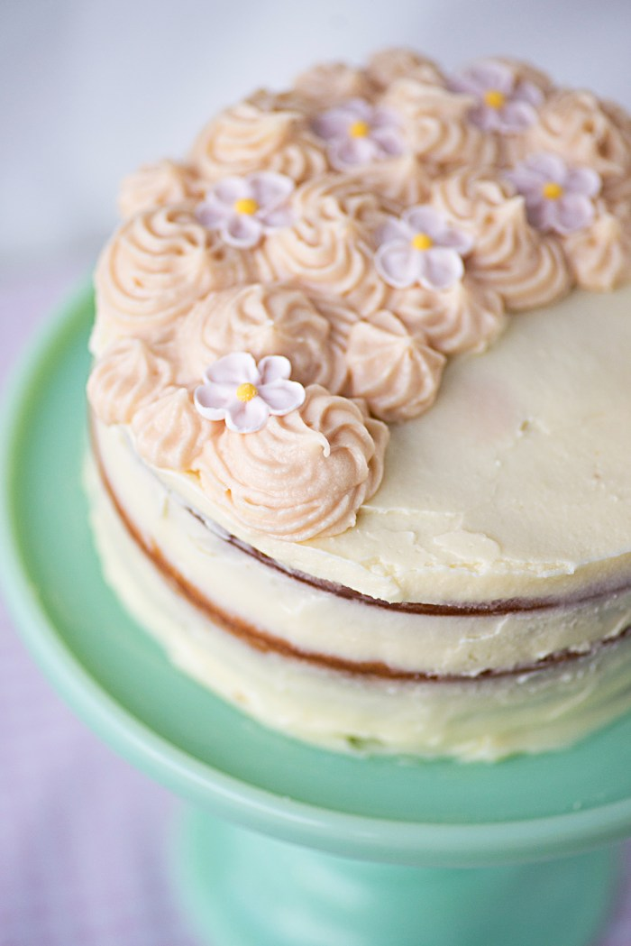 Ombre White Chocolate Mud Cake with Buttercream