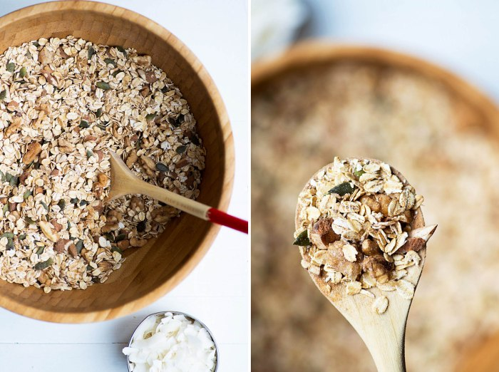 Homemade Nuts Seeds and Coconut Granola