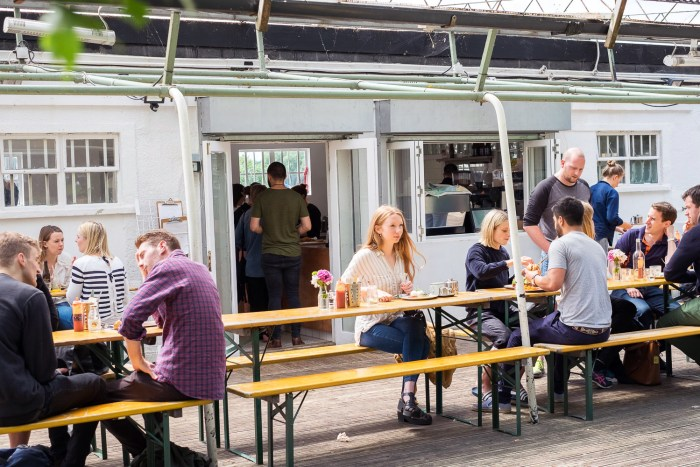 Brunch at Fields Cafe in Clapham Common