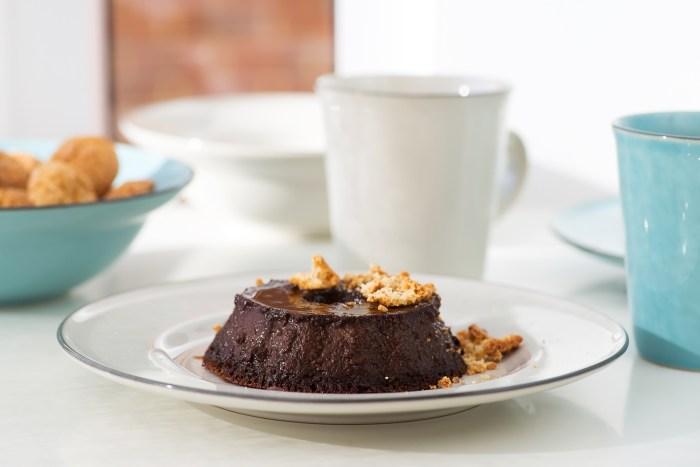 Italian Chocolate and Amaretti Pudding (Budino) - Recipe by Gordon Ramsay