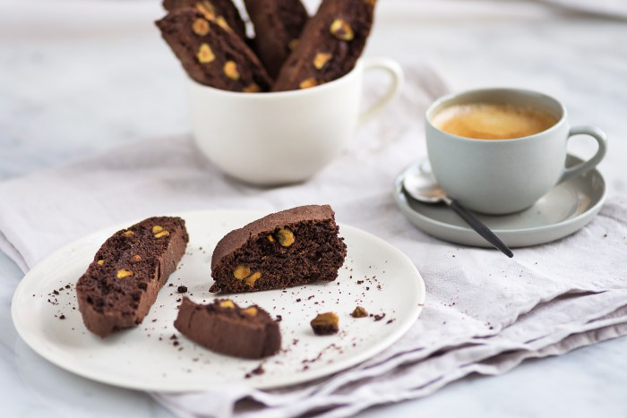 Chocolate and Pistachio Biscotti - Recipe by Eric Lanlard [photography by Mondomulia]