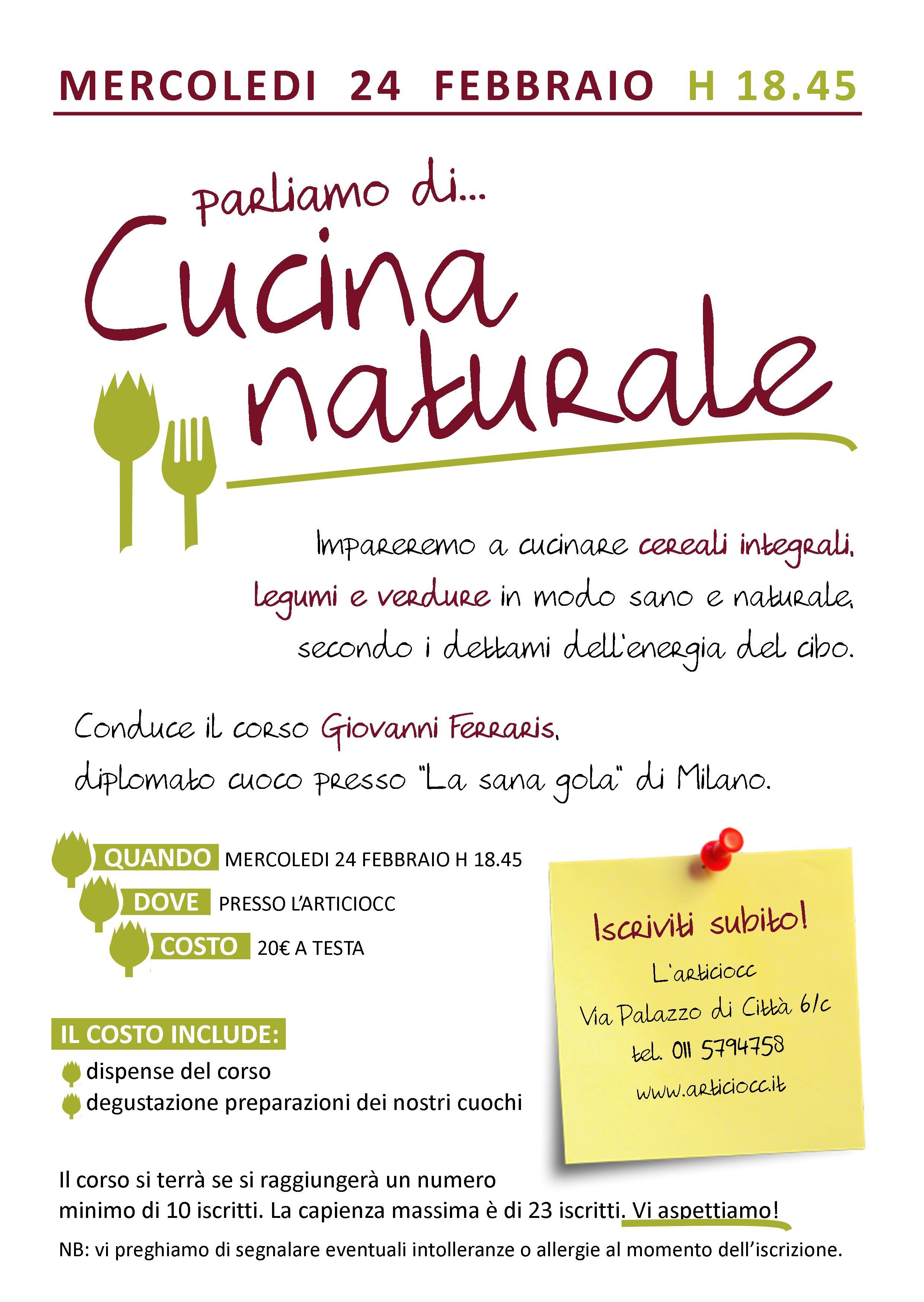Parliamo di Cucina Naturale  Mondo Nuovo  Altromercato
