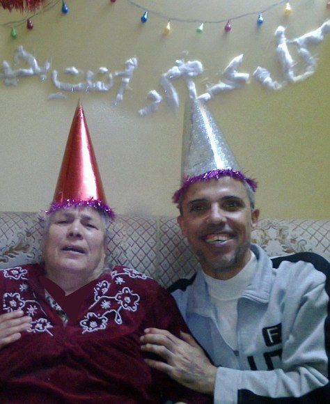 Celebrating Dr. El-Nabih's mother's 75th birthday last January.