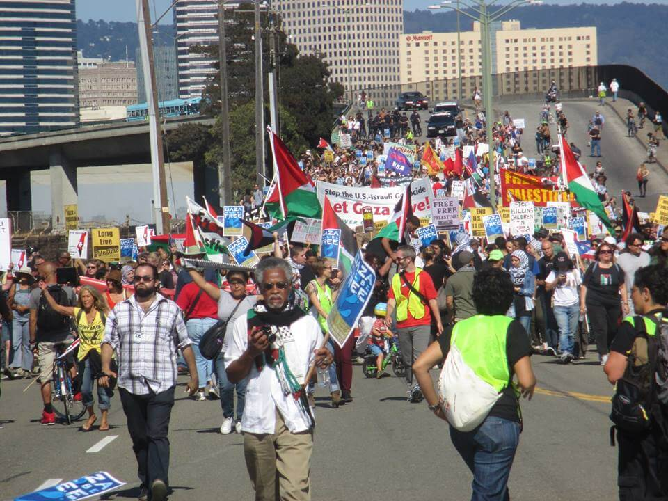 Block the Boat march in Oakland. (Photo: Bob Ristelhueber)